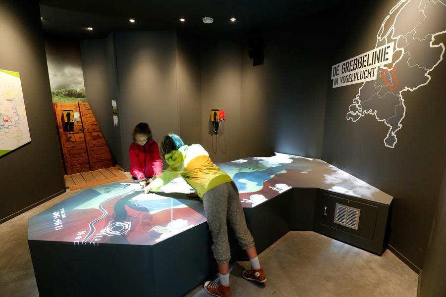 Interactieve landkaart projectie