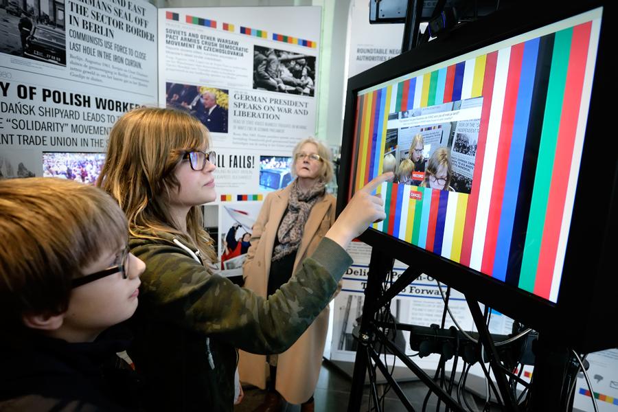 Reizende tentoonstelling videotoepassing
