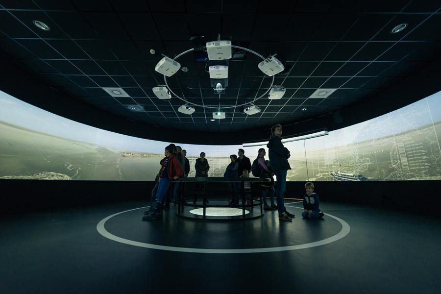 Waddenexperience 360 graden projectie